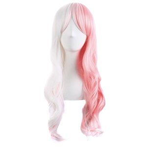 """8"""" Wavy Multi-Color Lolita Cosplay (White/Pink)"""